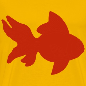 Orange Fish Clipart - Men's Premium T-Shirt