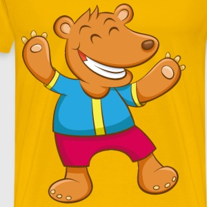 Cartoon Bear - Men's Premium T-Shirt