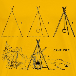 Lutz campfire 4 steps - Men's Premium T-Shirt