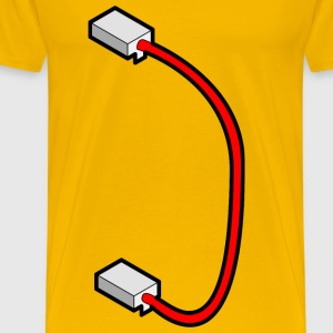 patch cable with border - Men's Premium T-Shirt