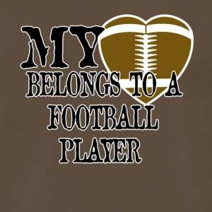 My Heart Football - Men's Premium T-Shirt