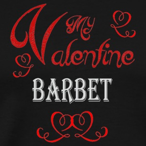 A romantic Valentine with my Barbet - Men's Premium T-Shirt