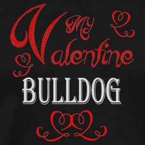 A romantic Valentine with my Bulldog - Men's Premium T-Shirt