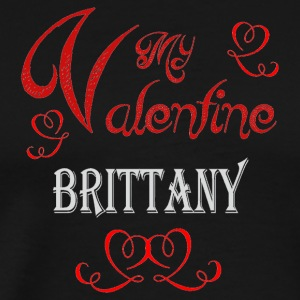 A romantic Valentine with my Brittany - Men's Premium T-Shirt