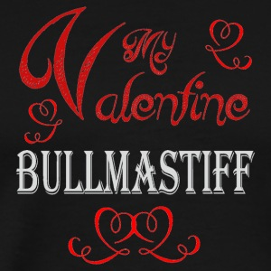 A romantic Valentine with my Bullmastiff - Men's Premium T-Shirt