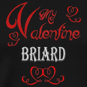 A romantic Valentine with my Briard - Men's Premium T-Shirt