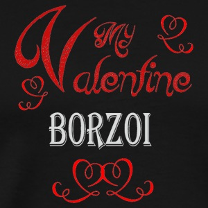 A romantic Valentine with my Borzoi - Men's Premium T-Shirt