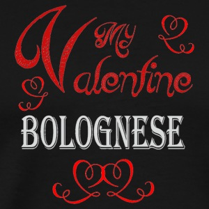 A romantic Valentine with my Bolognese - Men's Premium T-Shirt