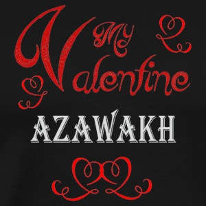 A romantic Valentine with my Azawakh - Men's Premium T-Shirt