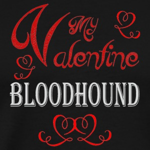 A romantic Valentine with my Bloodhound - Men's Premium T-Shirt