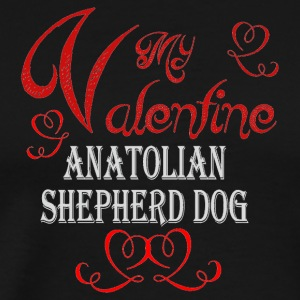 A romantic Valentine with my Anatolian Shepherd Do - Men's Premium T-Shirt