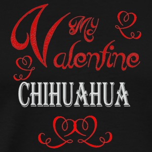 A romantic Valentine with my Chihuahua - Men's Premium T-Shirt