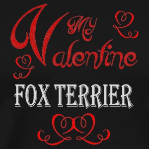 A romantic Valentine with my Fox Terrier - Men's Premium T-Shirt