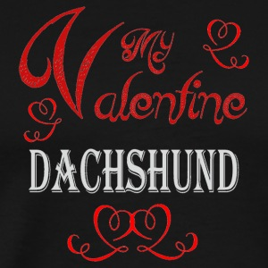 A romantic Valentine with my Dachshund - Men's Premium T-Shirt