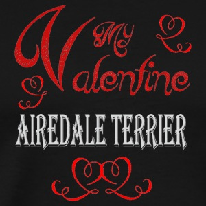 A romantic Valentine with my Airedale Terrier - Men's Premium T-Shirt