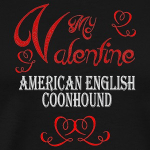 A romantic Valentine with my American English Coon - Men's Premium T-Shirt