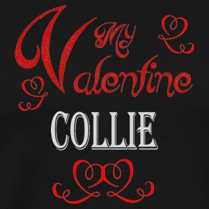 A romantic Valentine with my Collie - Men's Premium T-Shirt