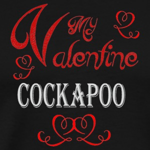 A romantic Valentine with my Cockapoo - Men's Premium T-Shirt