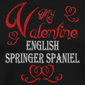A romantic Valentine with my English Springer Span - Men's Premium T-Shirt