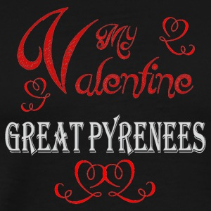 A romantic Valentine with my Great Pyrenees - Men's Premium T-Shirt