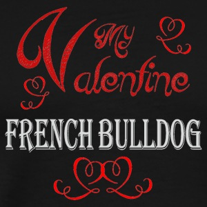 A romantic Valentine with my French Bulldog - Men's Premium T-Shirt