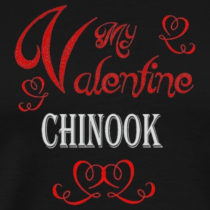 A romantic Valentine with my Chinook - Men's Premium T-Shirt