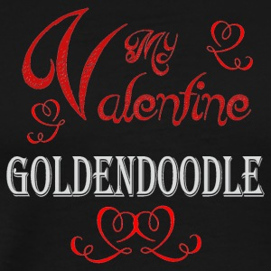 A romantic Valentine with my Goldendoodle - Men's Premium T-Shirt