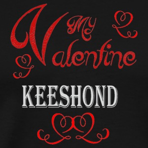 A romantic Valentine with my Keeshond - Men's Premium T-Shirt