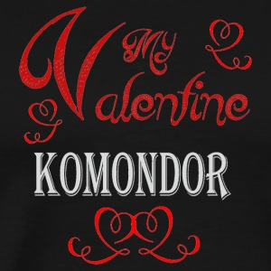 A romantic Valentine with my Komondor - Men's Premium T-Shirt