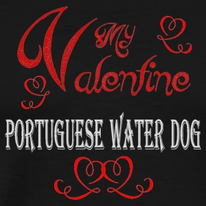 A romantic Valentine with my Portuguese Water Dog - Men's Premium T-Shirt
