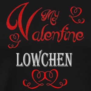 A romantic Valentine with my Lowchen - Men's Premium T-Shirt