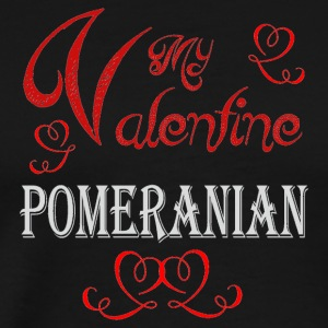 A romantic Valentine with my Pomeranian - Men's Premium T-Shirt