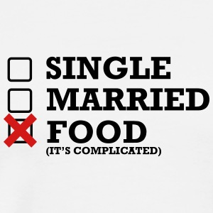 Single - Married - Food - Men's Premium T-Shirt