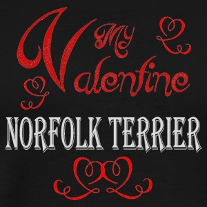 A romantic Valentine with my Norfolk Terrier - Men's Premium T-Shirt