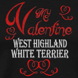 A romantic Valentine with my West Highland White T - Men's Premium T-Shirt
