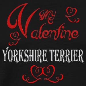 A romantic Valentine with my Yorkshire Terrier - Men's Premium T-Shirt