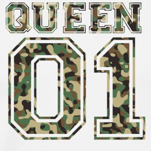Queen_01_camo_2 - Men's Premium T-Shirt