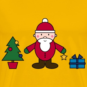 Simple Santa Claus Christmas Scene - Men's Premium T-Shirt