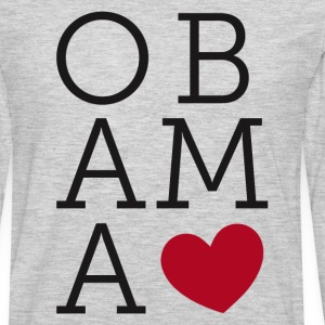 Obama Love Long Sleeve Shirts - Men's Premium Long Sleeve T-Shirt