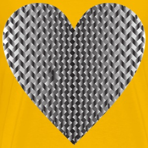 Colorful Heart Lattice Weave 10 - Men's Premium T-Shirt