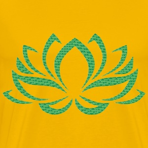 Emerald Lotus Flower No Background - Men's Premium T-Shirt