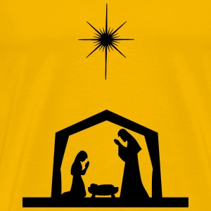 Nativity Silhouette - Men's Premium T-Shirt