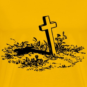 Simple grave - Men's Premium T-Shirt