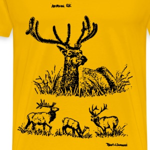 American elks - Men's Premium T-Shirt