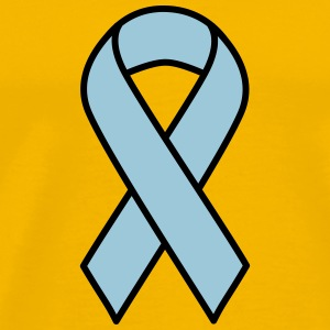 Light Blue Prostate Cancer Ribbon - Men's Premium T-Shirt
