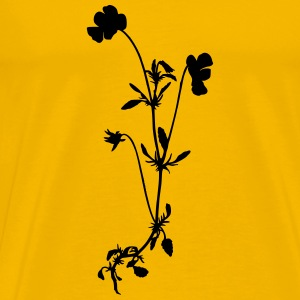 Heartsease (silhouette) - Men's Premium T-Shirt