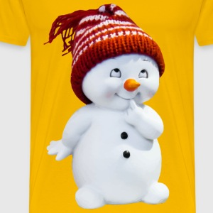 Playful Snow Man - Men's Premium T-Shirt