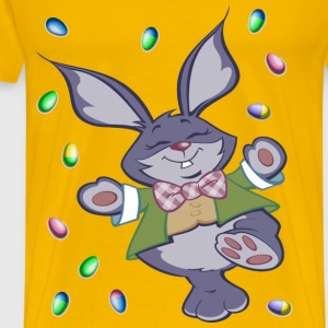 Easter Bunny And Eggs - Men's Premium T-Shirt
