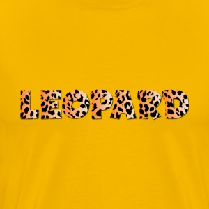 Leopard Typography 2 No Stroke With Drop Shadow - Men's Premium T-Shirt