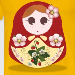 russian doll strawberry - Men's Premium T-Shirt